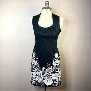 SPENSE Sleeveless Black White Dress Empire Waist 4